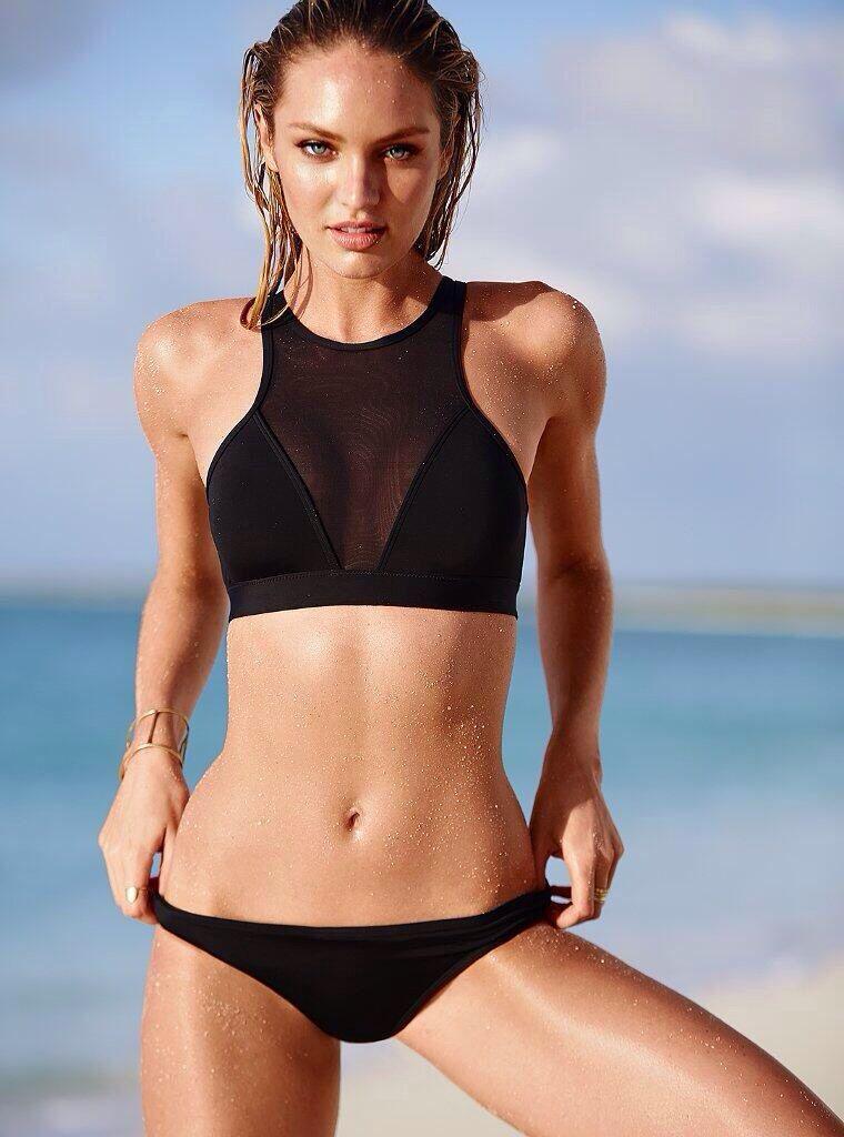 Women's black bikini bottom