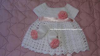 Sapatinhos Para Bebê - Life Baby: Vestido em Crochê