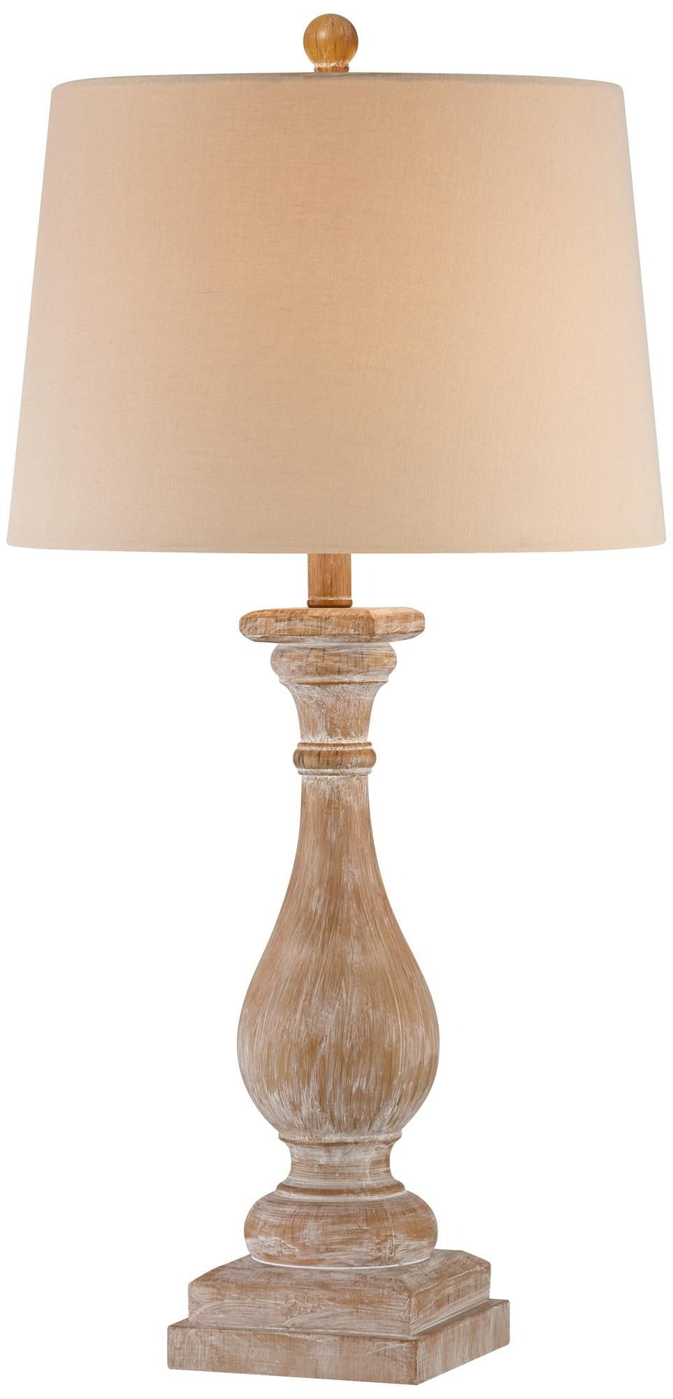 Worn Wood Candlestick Table Lamp