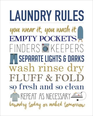Laundry Rules Printable Free Easy And Print Ready Laundry