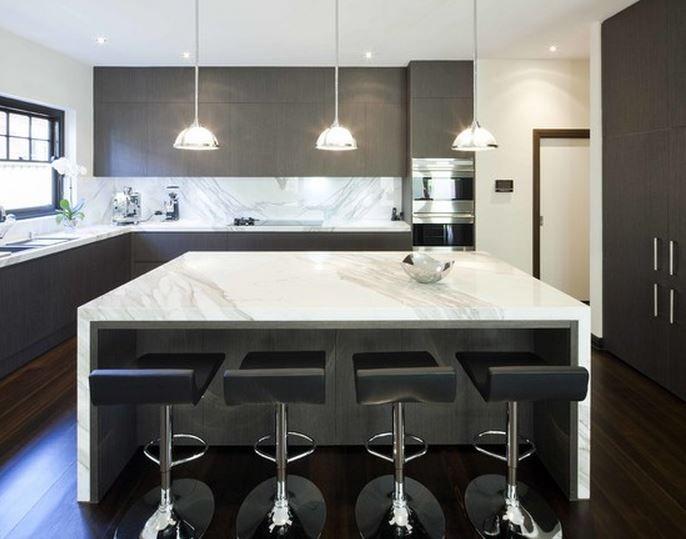 Cuisine avec Îlot Central Modernes Pour notre future cuisine