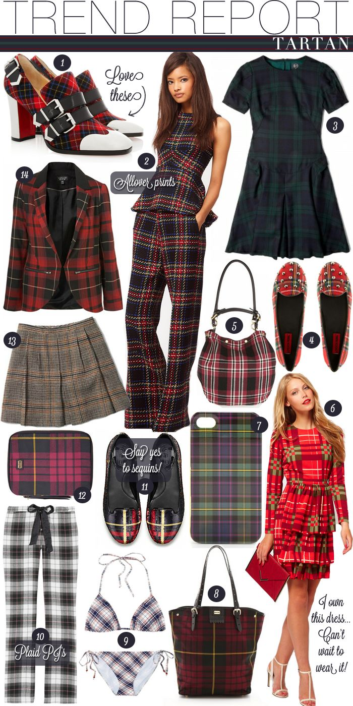 TREND REPORT -TARTAN | Beauty and style | Fashion, Style ...