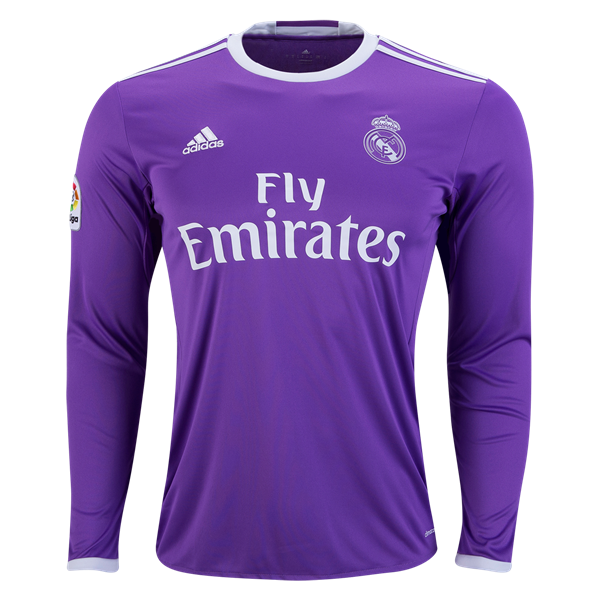Real Madrid 16 17 Ls Away Soccer Jersey Get Match Ready For The 2016 17 Uefa Champions League Long Sleeve Tshirt Men World Soccer Shop Real Madrid