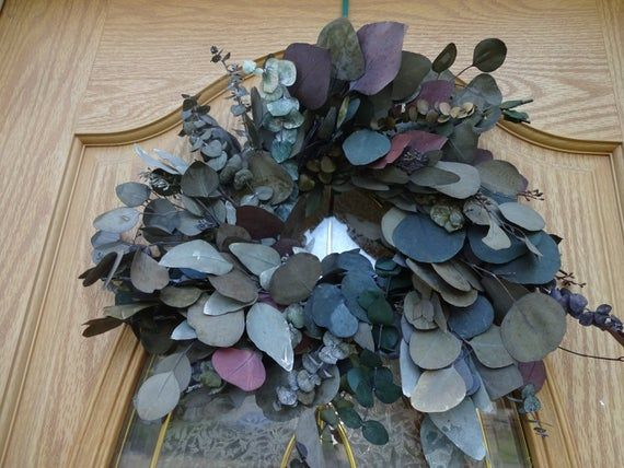 Photo of Eucalyptus Wreath  Mother's Day Gift  Fragrant Wreath Preserved Wreath  Indoor Wreath  16″ Wreath Hostess Gift  Get Well Gift  Wreath