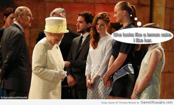 Sansa Is Feeling Hungry Rainha Elizabeth Elenco De Game Of Thrones Elizabeth Ii