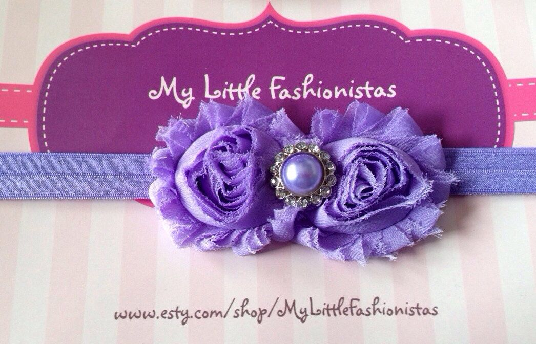 A+beautiful+purple+shabby+headband+by+MyLittleFashionistas+on+Etsy,+$6.95