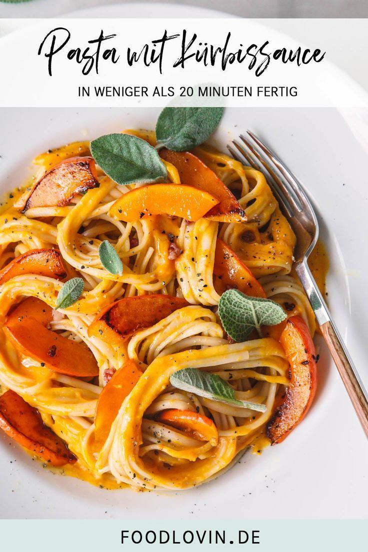 Pasta mit cremiger Kürbissauce #pumpkinrecipes