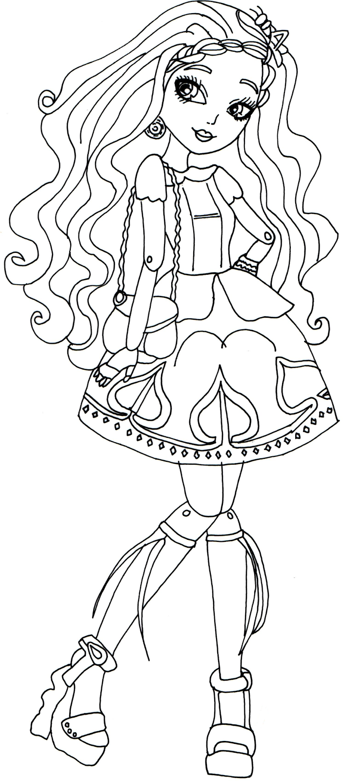 Free Printable Ever After High Coloring Pages Cedar Wood Page
