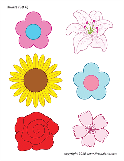 Flower Nature Printables Free Printable Templates Coloring Pages Firstpalette In 2020 Flower Templates Printable Flower Printable Flower Templates Printable Free