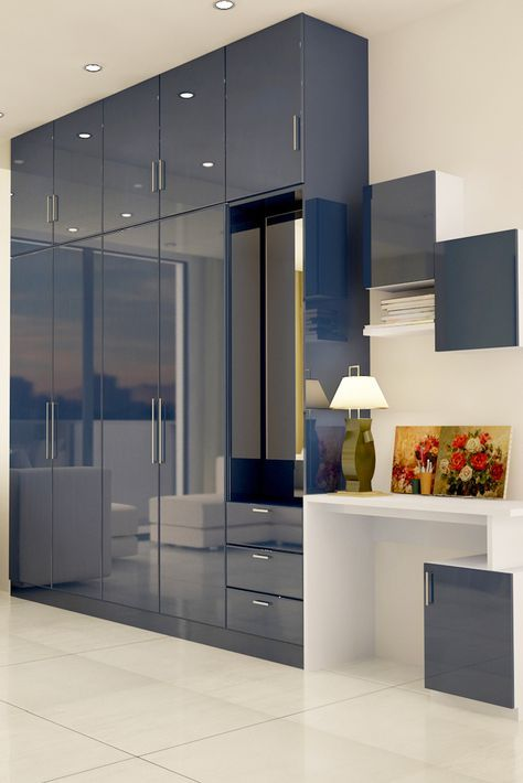 Paprika Multifunctional Hinged Wardrobe Glossy Finish And A Subtle
