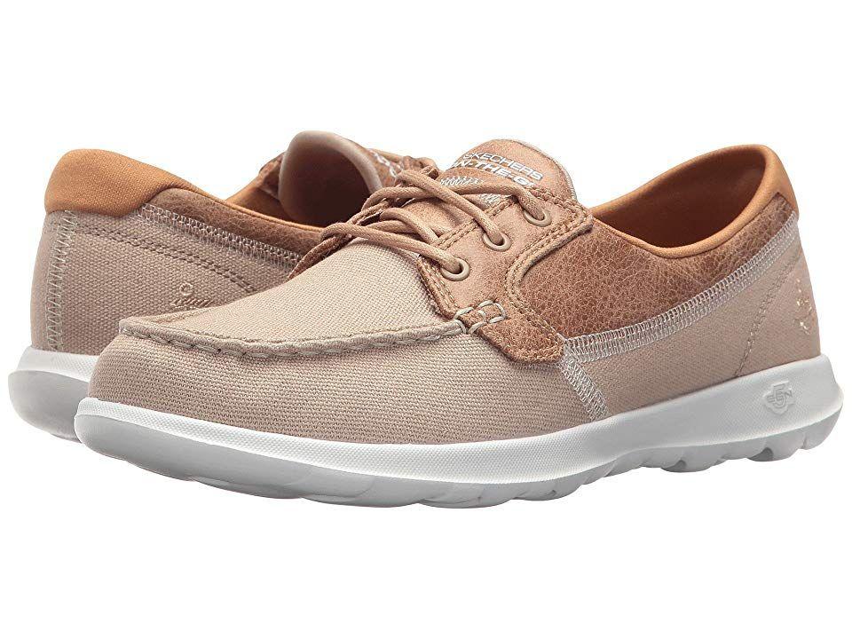 Skechers Go Step Boat Schuhe Taupe Damen Schuhe Sneakers