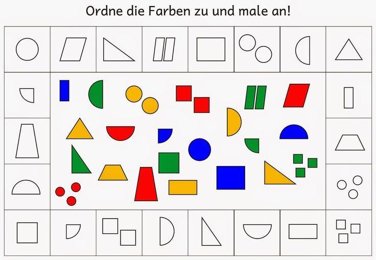 Farben zuordnen und anmalen (1) | Zuzuordnen, Farben und Vorschule