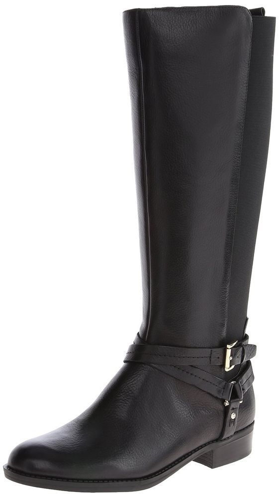 af5e96c711e New Tommy Hilfiger Womens Sienna Black Leather Tall Knee High Riding Boots  6.5  TommyHilfiger  KneeHighBoots  Casual