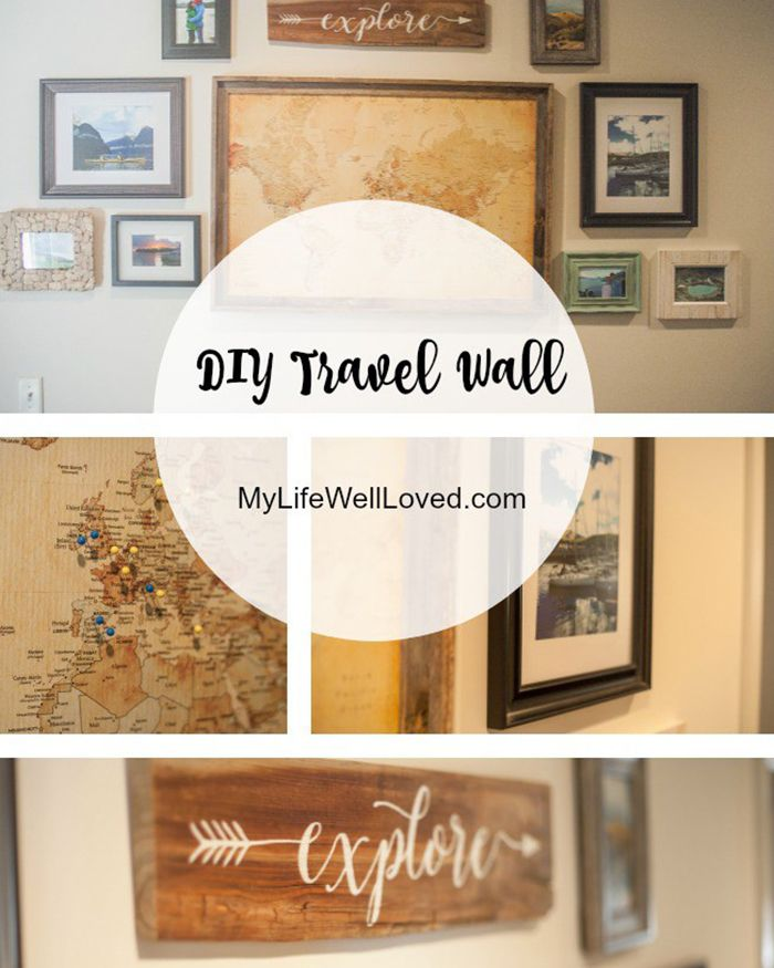 Create A Travel Wall The Blog Societies Travel Wall Decor Travel Themed Bedroom Travel Decor Diy #travel #themed #living #room