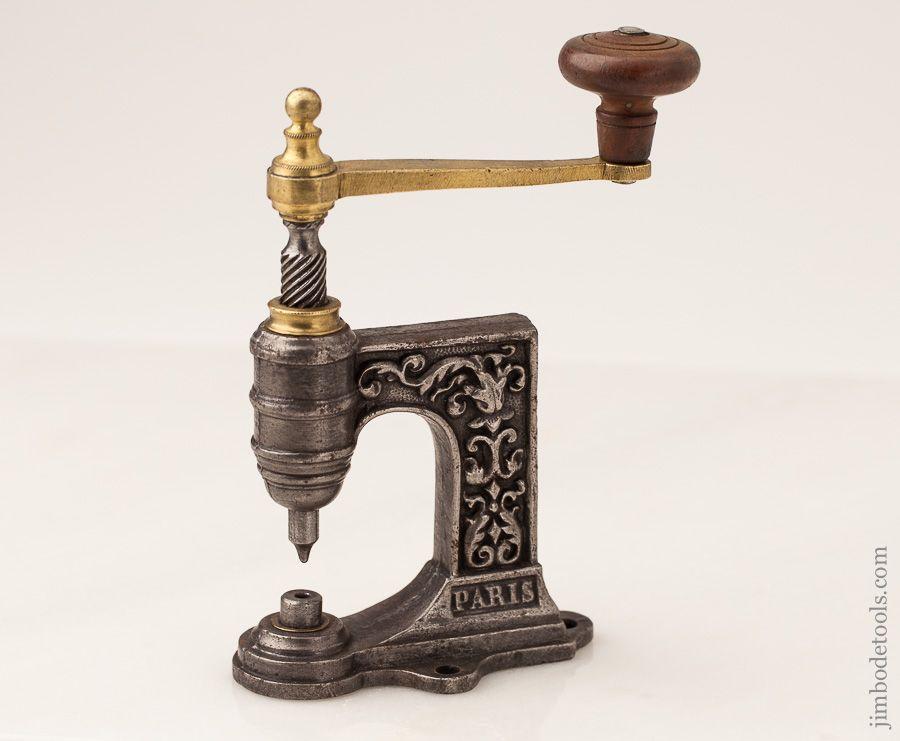 Pretty Ornate French Rivet Press De Paris Antique