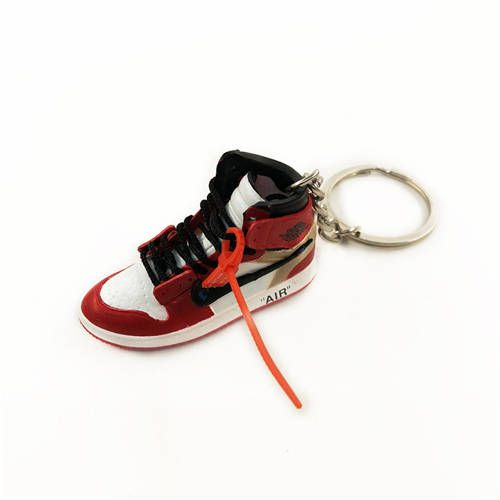 28349a32f753f5 Air Jordan 1 Chicago x Offwhite Mini Sneaker(Tiny Sneaker) Keychain ...