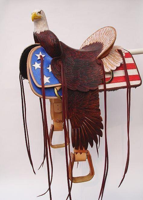 American flag saddle | Saddles | Horse saddles, Western