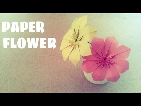 Origami Flower - Lily (100th video!) - YouTube | 360x480