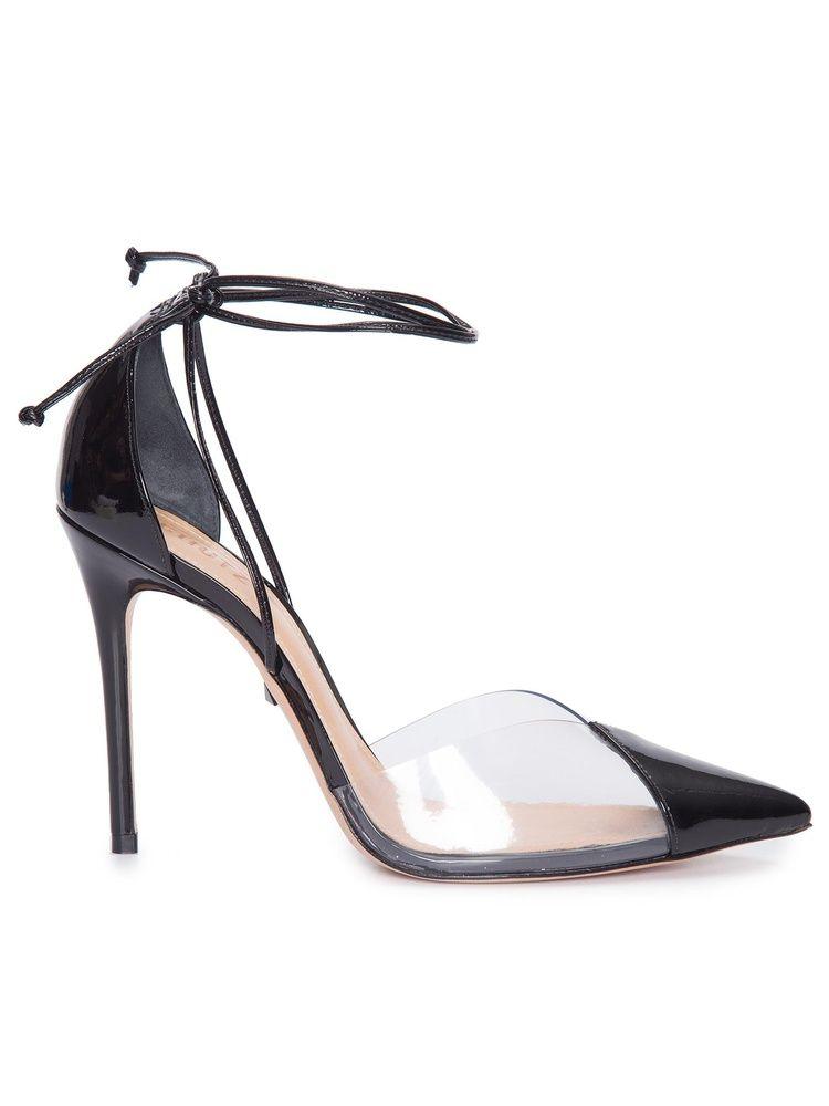 f9f106734b SCHUTZ Sapato Feminino Verniz Com TransparÊncia - Preto