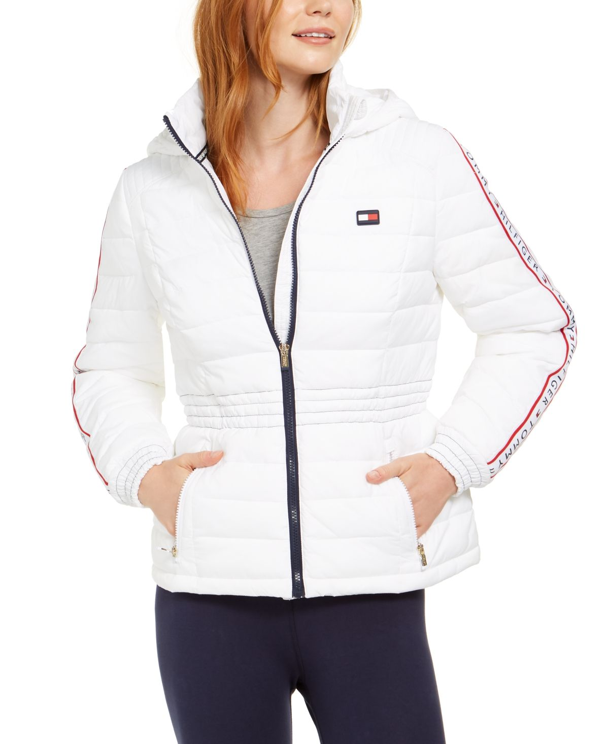 Tommy Hilfiger Sport Cinched Waist Quilted Puffer Jacket