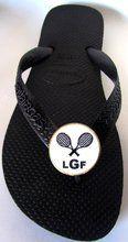 SWAGSTAMP Tennis Flip Flops
