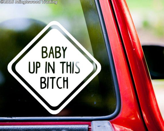 Bitch Inside Vinyl Car Window Laptop Decal Sticker