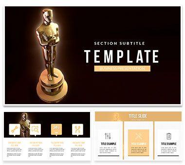 Academy Awards Oscars Powerpoint Template Award Template