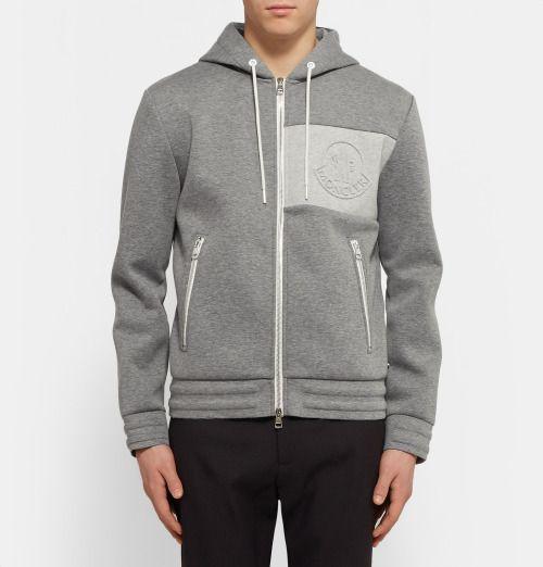 699e17c23 MONCLER Bonded Cotton-Jersey Hoodie