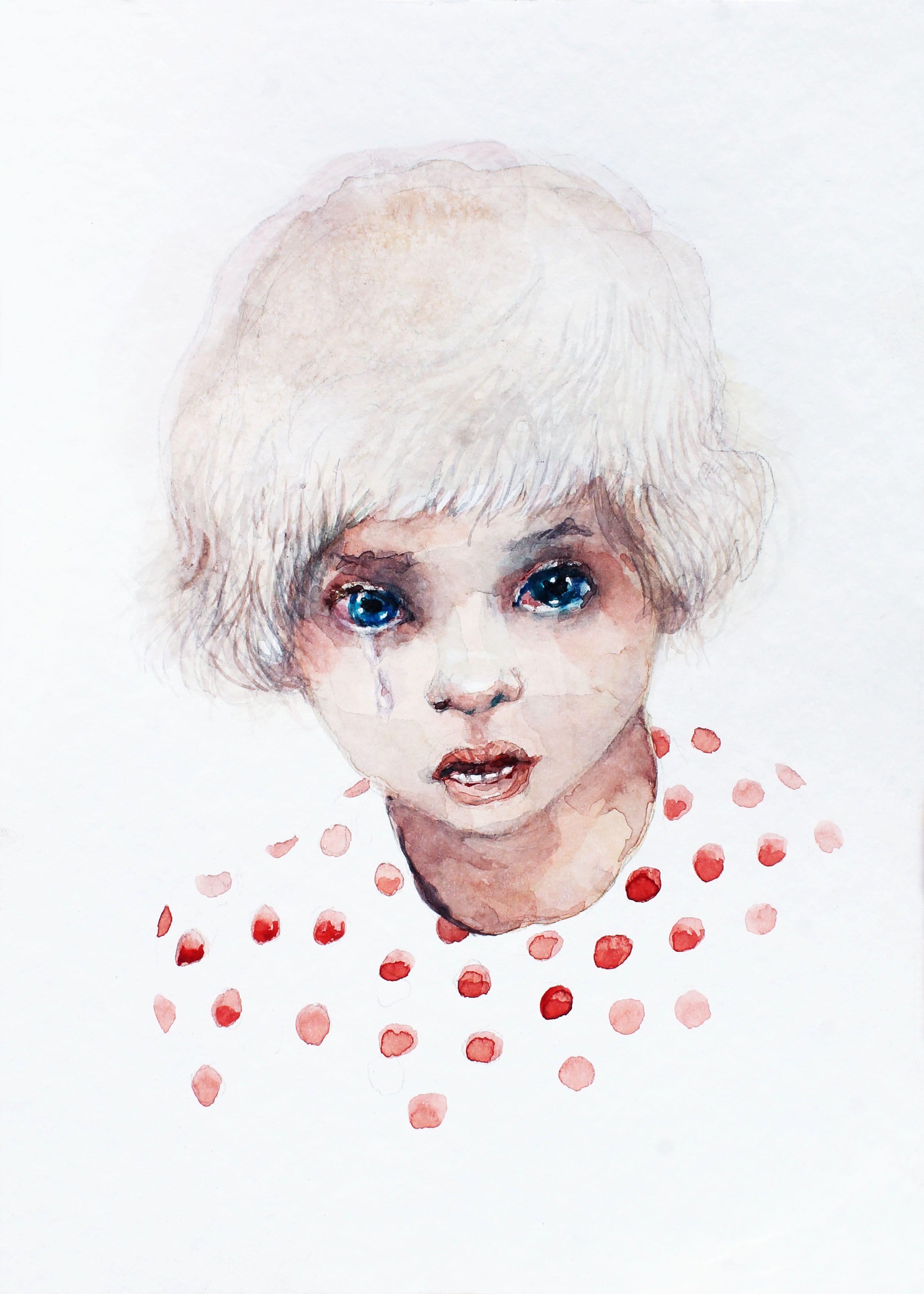 Abstract Watercolor Portrait Painting Romanticize Our Demise