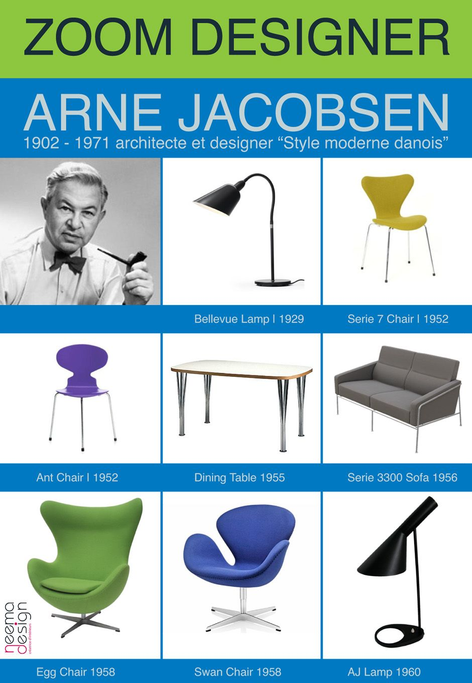 Arne Jacobsen - - icons of the 20th Century   LEGENDS OF DESIGN ...