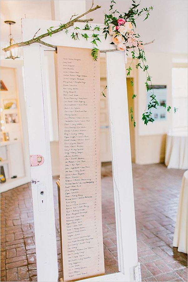 10 unique DIY wedding guest escort cards and seating charts ...