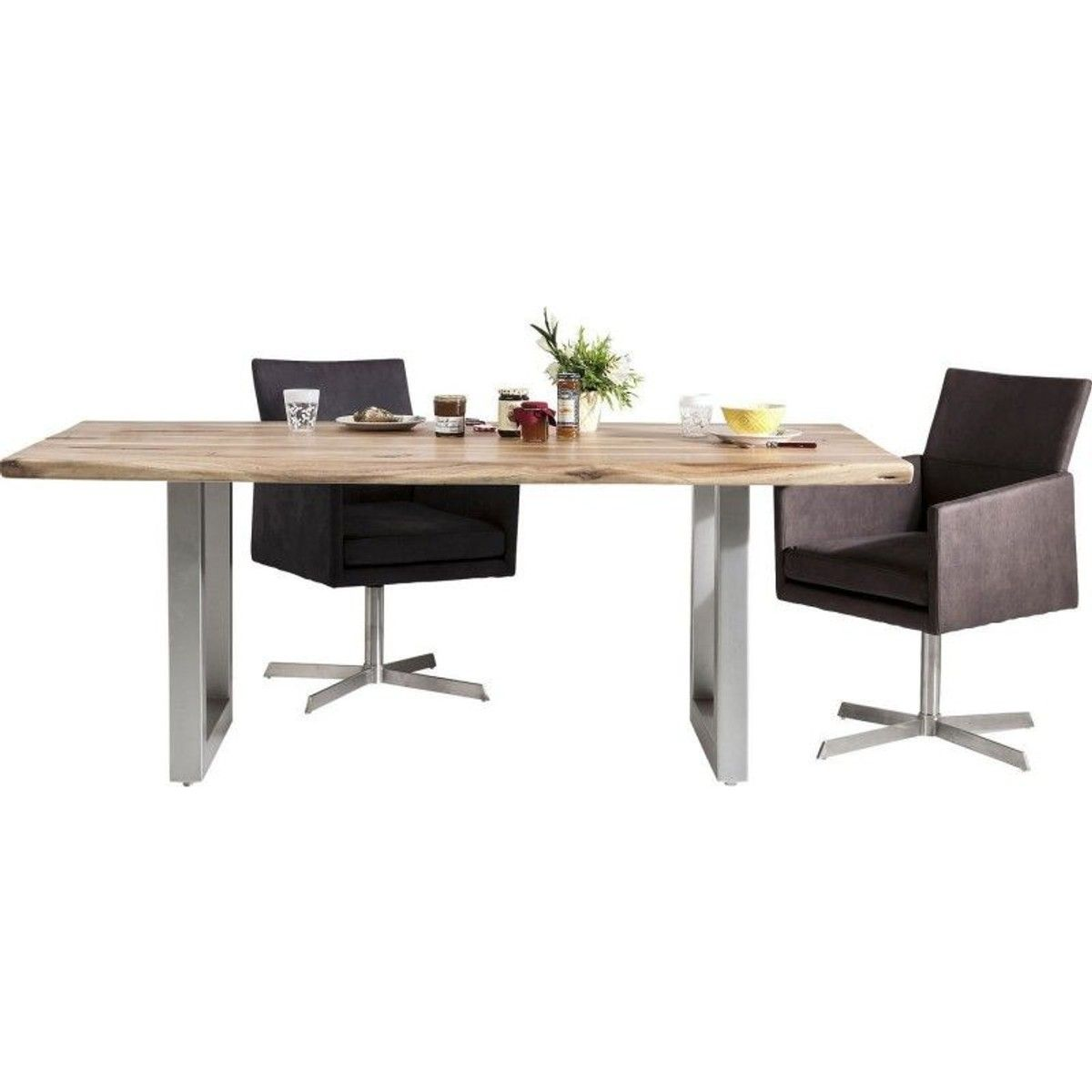 Table En Bois Nature Line 180x90cm Kare Design Taille 6 Pers