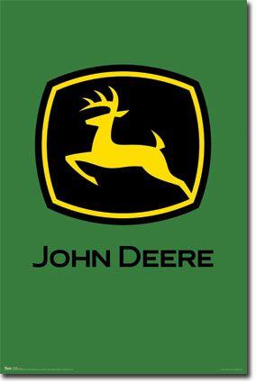 John Deere Logo Poster For The Kids Pinterest Logos And Tractor