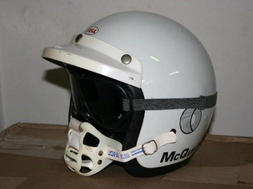casque moto cross jet bell original steve mcqueen 1970 helmets pinterest casque. Black Bedroom Furniture Sets. Home Design Ideas