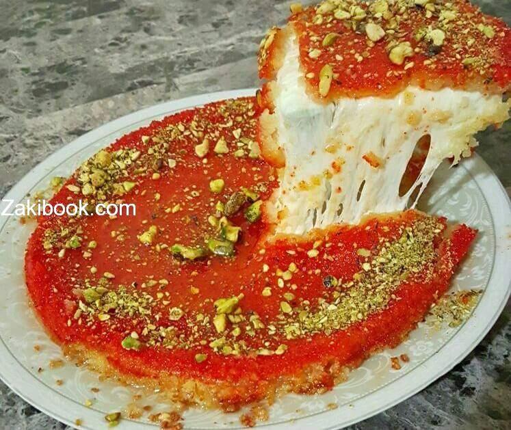 اصنع كنافة نابلسية كالمحترفين بمكونات بسيطة زاكي Middle Eastern Desserts Dessert Recipes Lebanese Desserts
