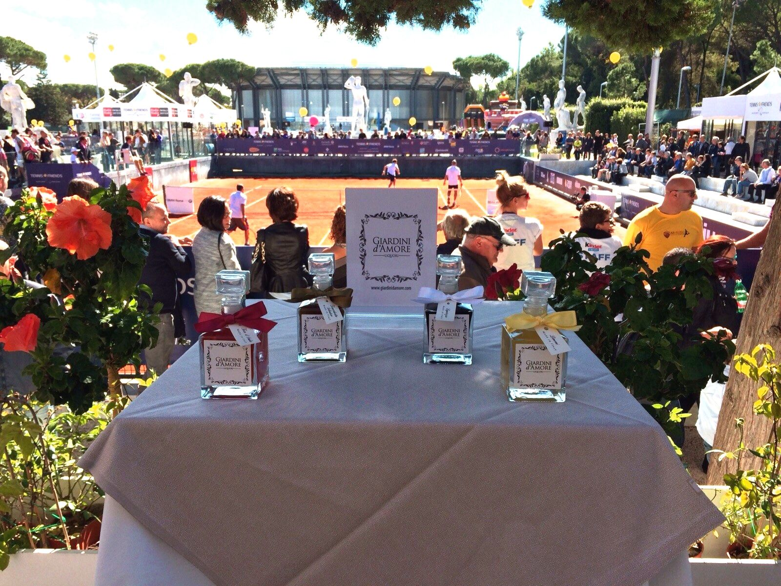 Grande privilegio ed onore per Giardini d'Amore essere presenti a ‪Roma‬ alla seconda giornata del Tennis and Friends - Great privilege and honor to be present in Rome at the second day of Tennis & Friends - 11 Oct 2015