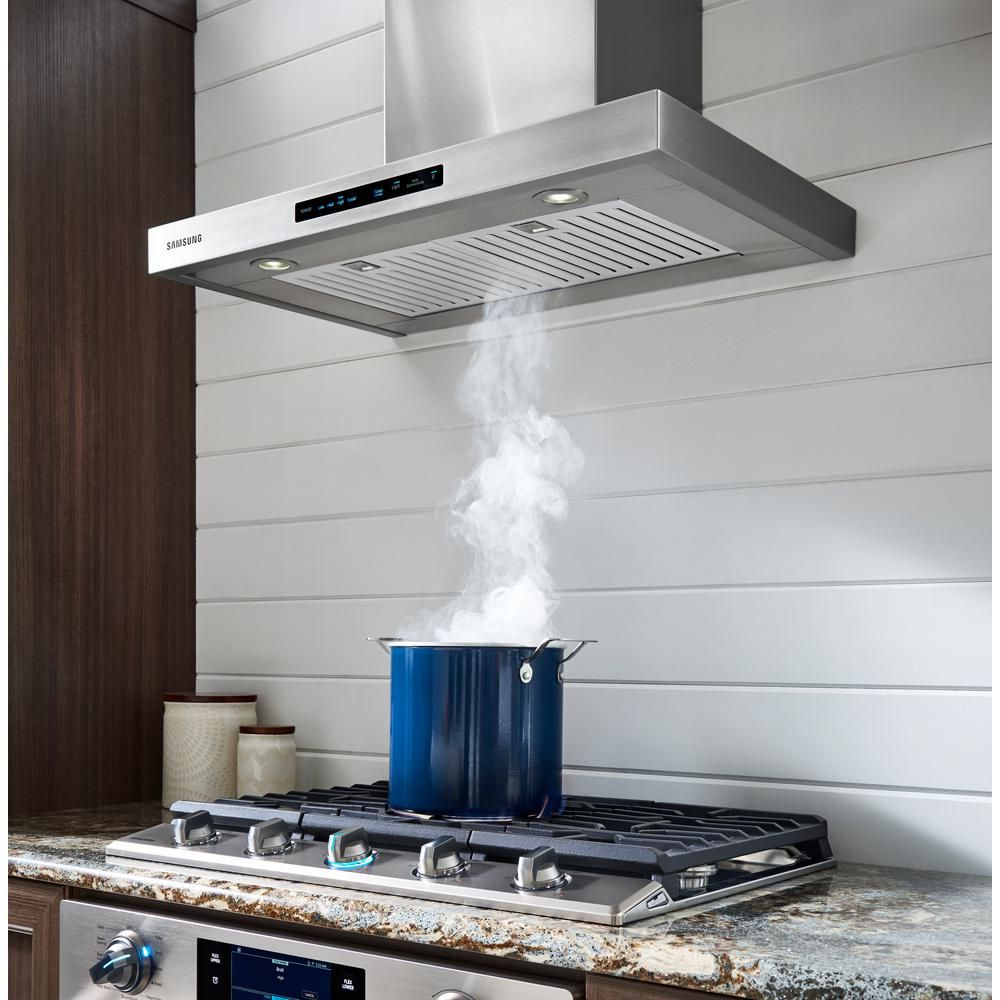 Samsung 30 In. Wall Mount Exterior Venting Range Hood In Stainless Steel  With Wi Fi NK30K7000WS   The Home Depot