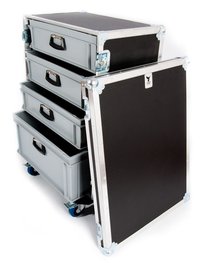 Large production tech flight case with 4 drawers frchse pinterest drawe - Fabriquer flight case ...