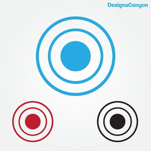 Target Icon Vector Eps Free Vector Vector Free Vector Vector Illustration