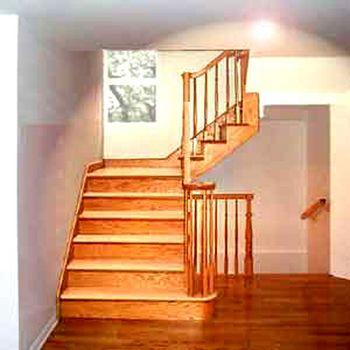 Escalier en bois intrieur simple with escalier en bois for Prix escalier interieur
