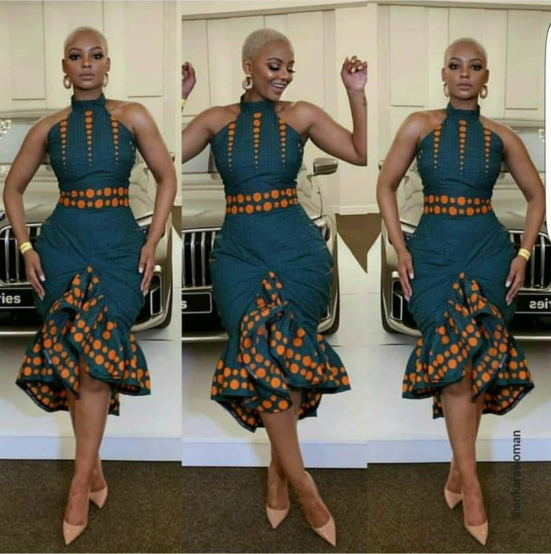 Afrikanische ärmellose Kleid, afrikanische Midi-Kleid für Frauen, afrikanische Kleidung für Frauen, afrikanische Geburtstagskleid, Ankara Kleid, afrikanische kurze Kleid