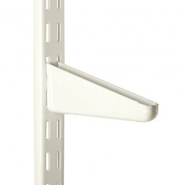 Epoxy Coated Twin Track Shelf Standards Brackets White Brackets