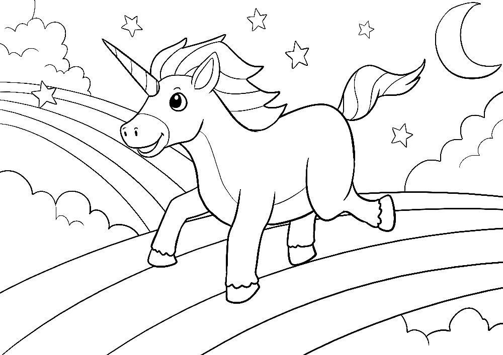 Ausmalbilder Einhörner   Unicorn coloring pages, Coloring ...