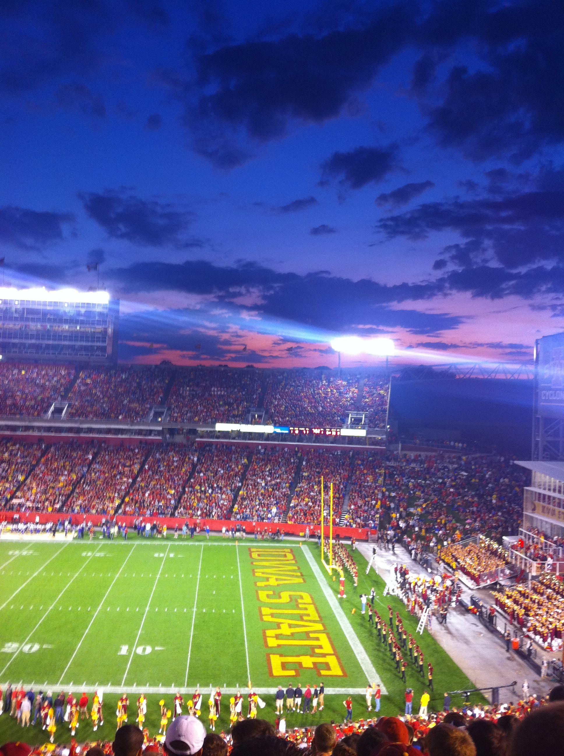 Great Photo Of Jack Trice Stadium Cyclonenation Iowa State Football Iowa State University Iowa State