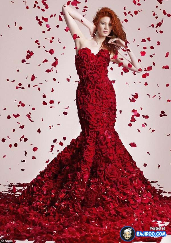 amazing cool awesome dress made with real flowers costumes designs ...