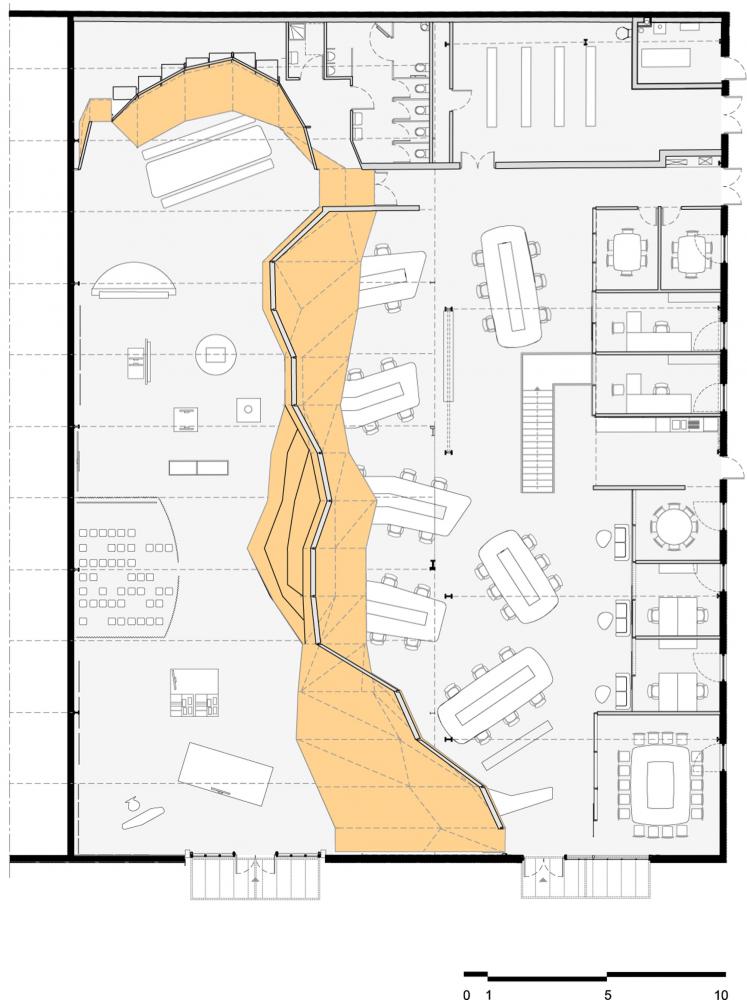 Gallery Of Surfrider Foundation Gardera D Architecture 13 Office Layout Plan Restaurant Plan Office Floor Plan