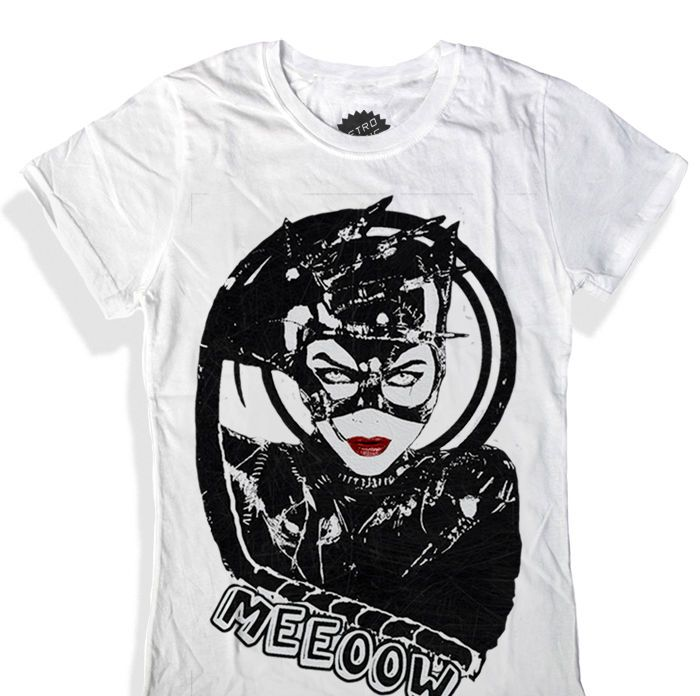 CATWOMAN T Shirt Batman Tim Burton Michelle Pfeiffer