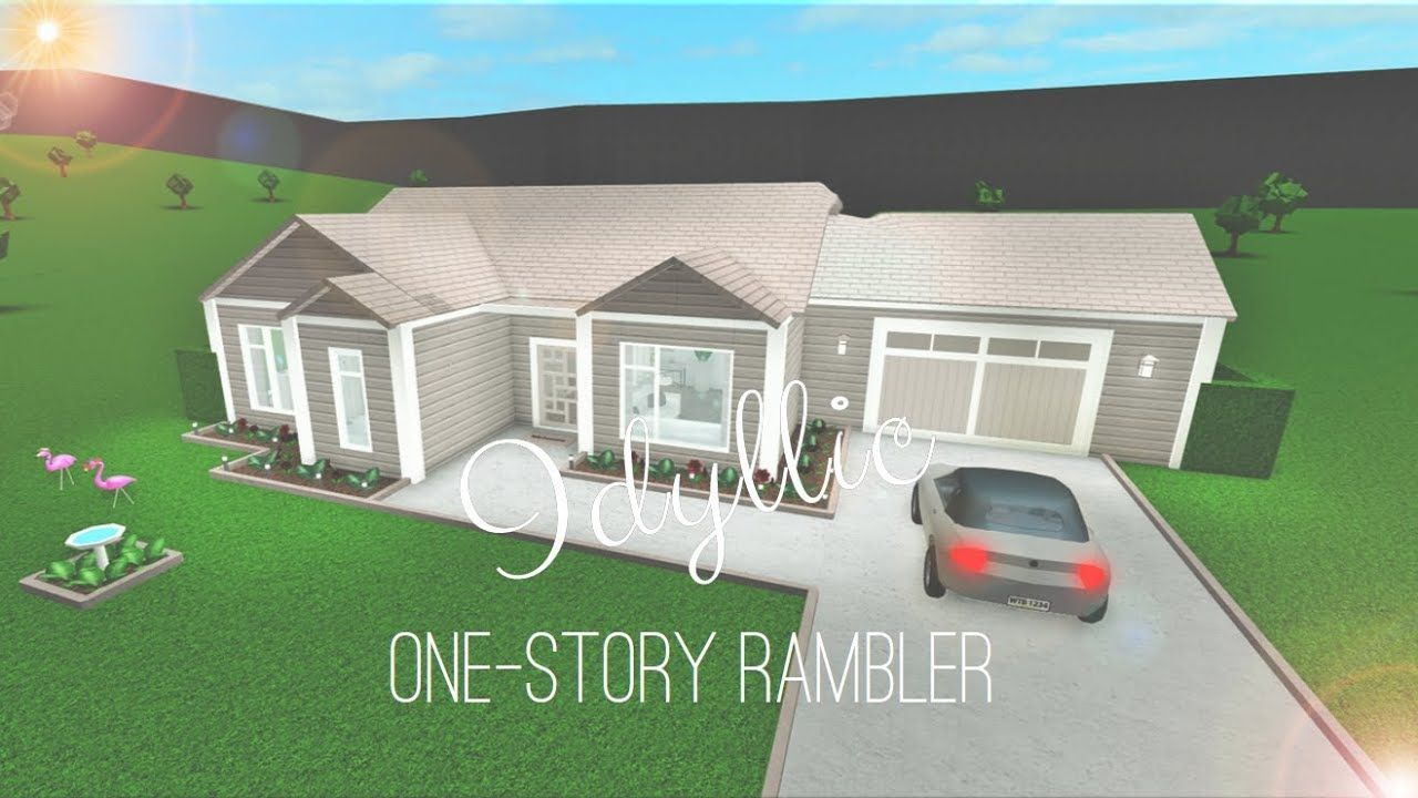 1 Story House Design Bloxburg House Blueprints Build A House Game Building A House