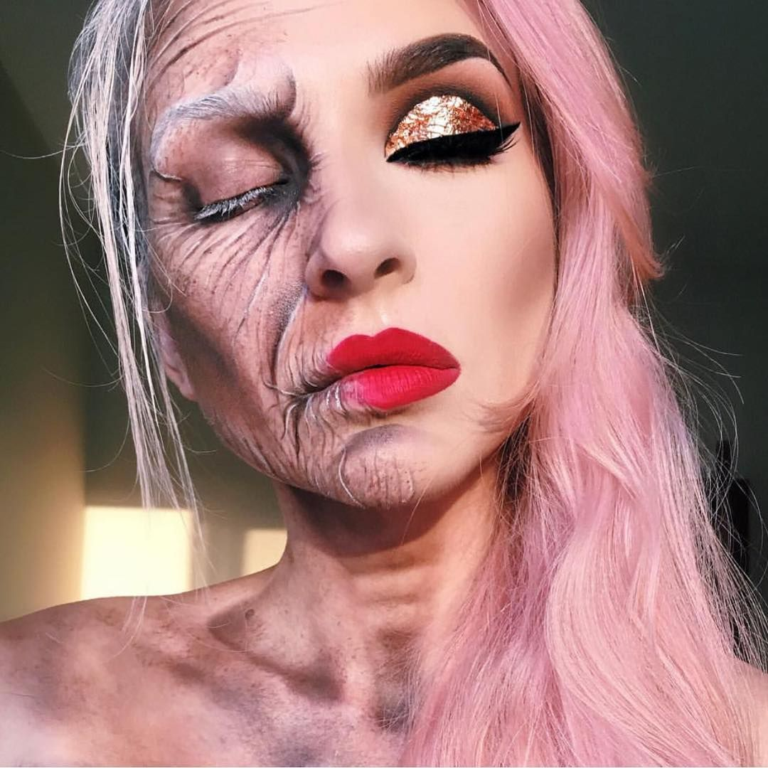 half old lady half young lady | halloween | Pinterest | Makeup ...