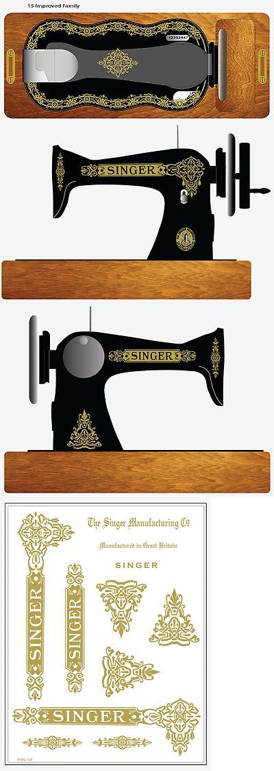 Singer Model 15 Improved Family Celtic Style Sewing Machine Restoration Decals Restoration & Care